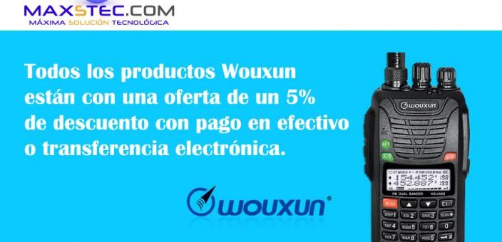 Wouxun – Oferta descuento 5%