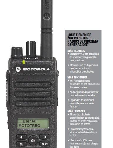 DEP 570e Radio Transmisor Digital Portátil MotoTrbo